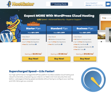HostGator cloud review