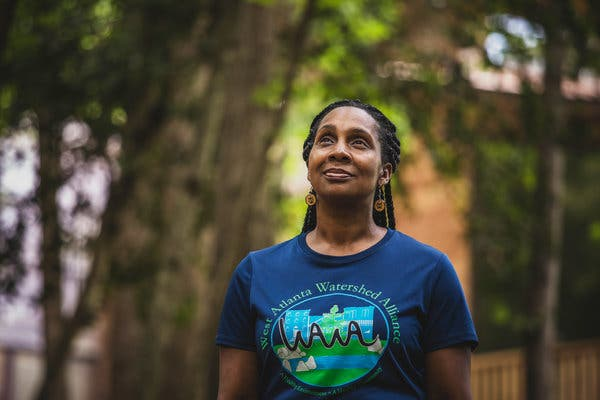Dr. Na'Taki Osborne Jelks, an environmental activist, is one of the founders of the West Atlanta Watershed Alliance.
